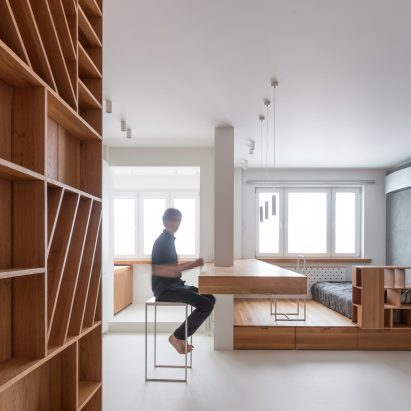 Ruetemple creates small spartan apartment in Moscow & Small apartment design and interiors | Dezeen