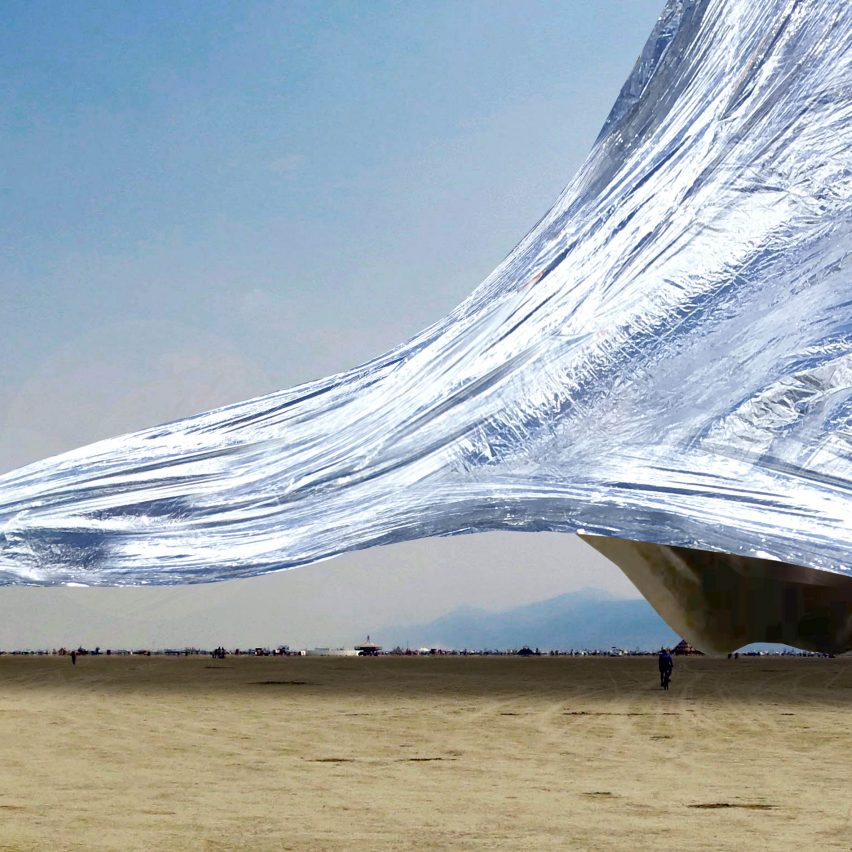 The Blanket at Burning Man by Alex Schtanuk