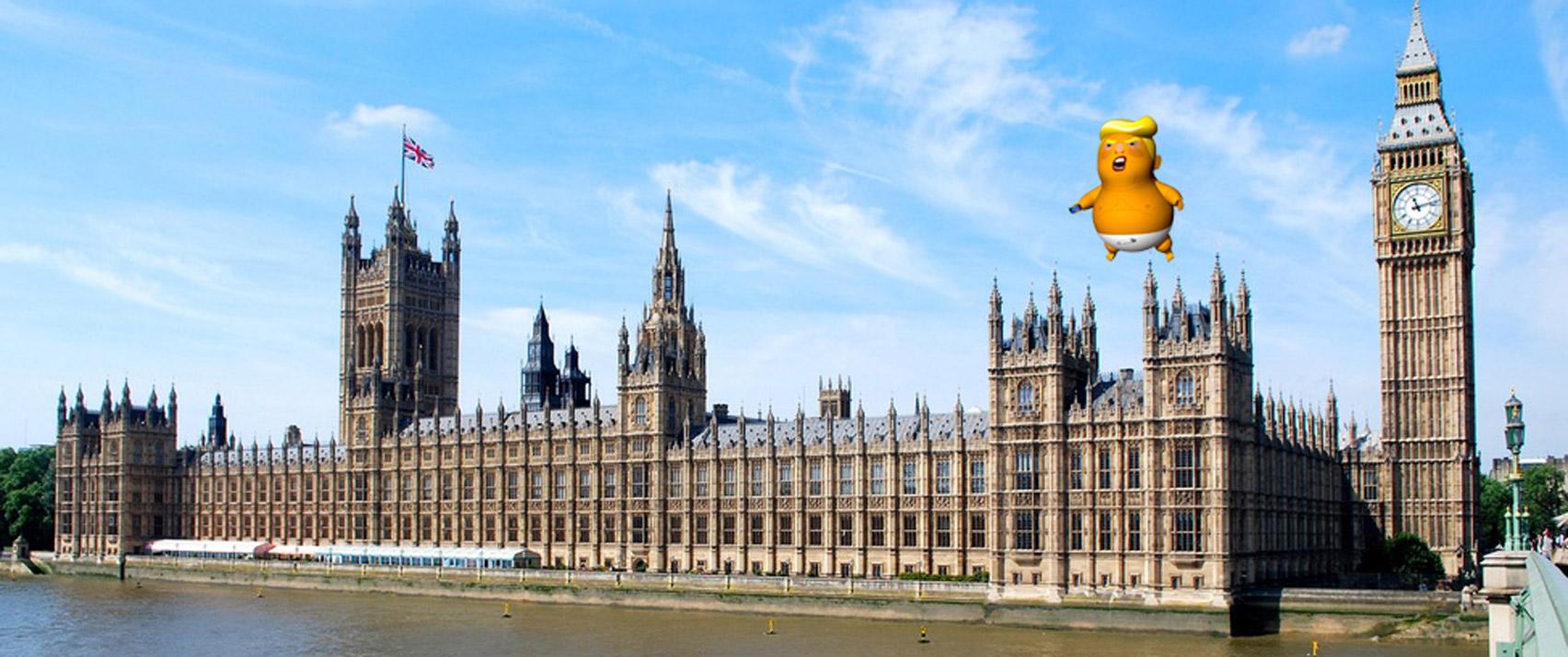Sadiq Khan approves flight of giant, orange Trump Baby blimp over London