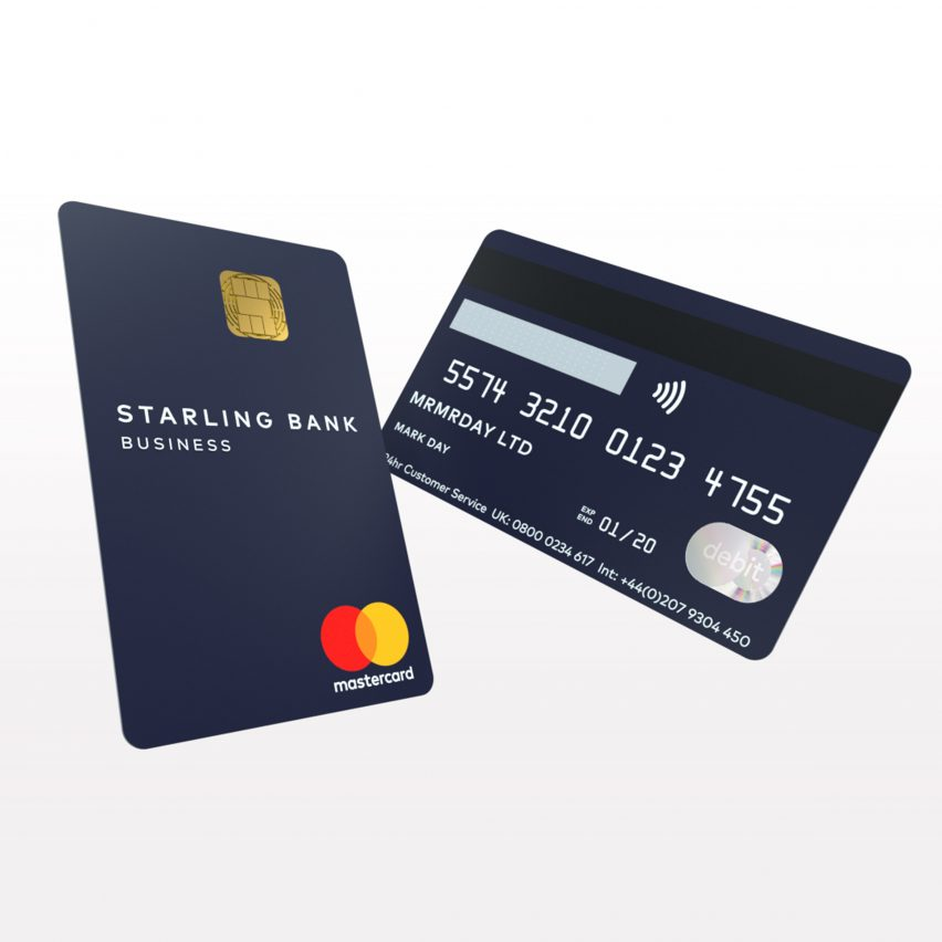 Starling bank launches vertical debit card