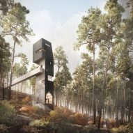 "Denizen Works designs ""abstracted tree"" viewing tower for Scottish botanical gardens"