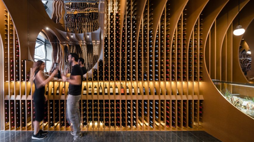 Zooco Estudio create cave-like wine shop in Spain