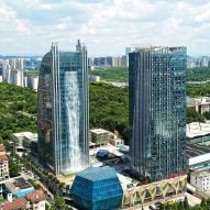 Chinese skyscraper incorporates 108-metre high waterfall