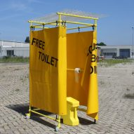 Yellow Spot is a portable protest toilet for women
