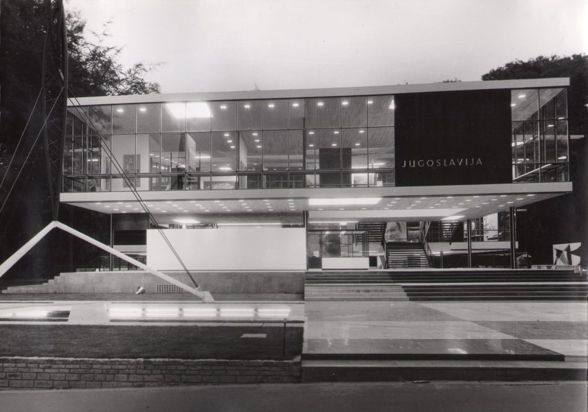 Yugoslav Pavilion at Expo 58 by Vjenceslav Richter, Brussels, Belgium, 1958