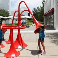 Yuri Suzuki installs six colourful sound-modifying sculptures in Atlanta
