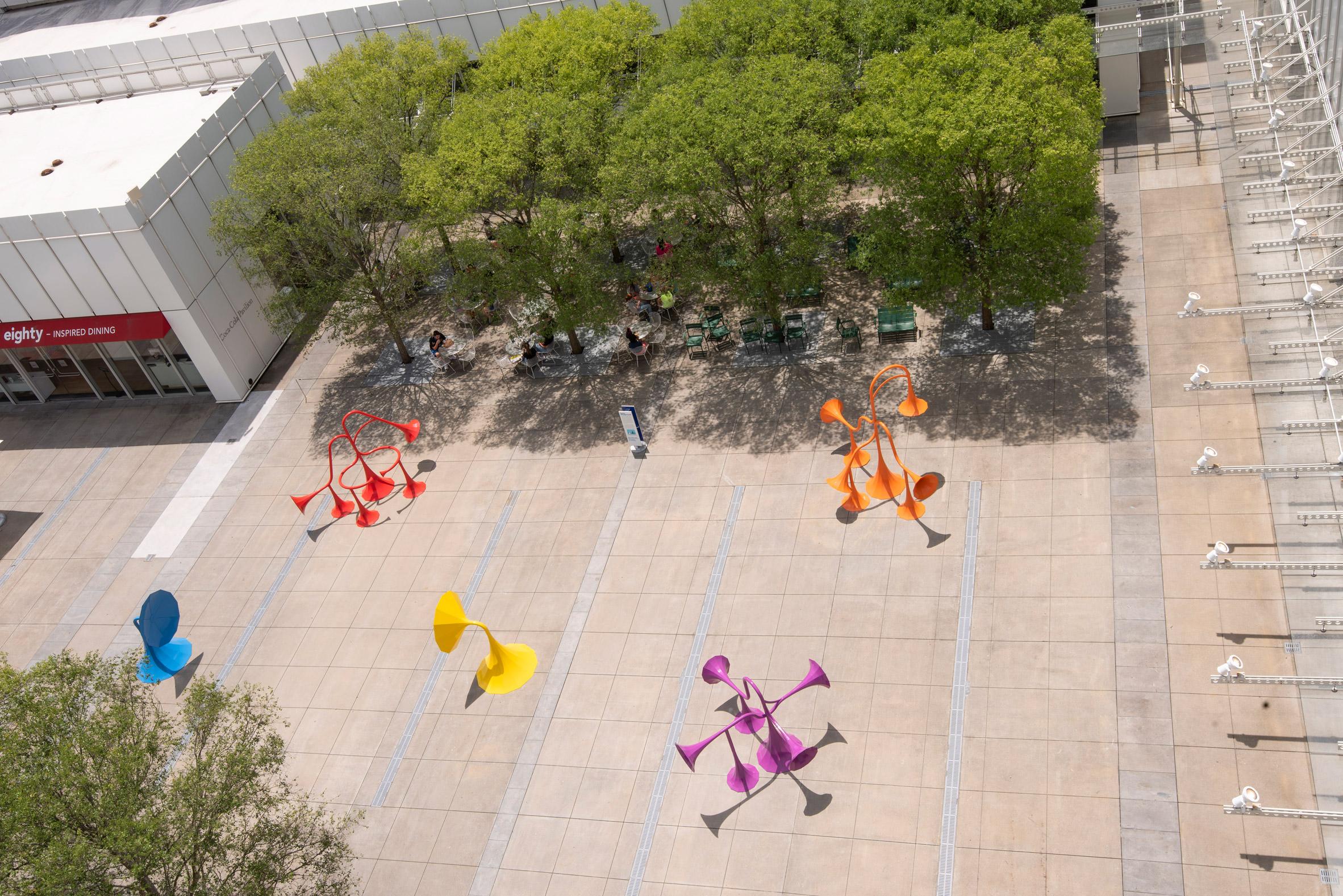 Yuri Suzuki installs six colourful sound-modifying sculptures in Atlanta