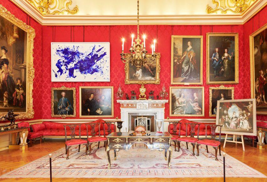 yves klein s ultramarine artworks animate 18th century interiors of