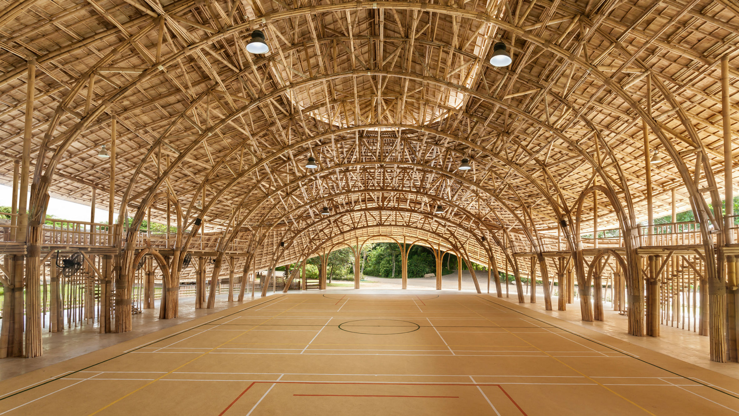 Bamboo Sports Hall, Chiang Mai, Thailand, by Chiangmai Life Architects