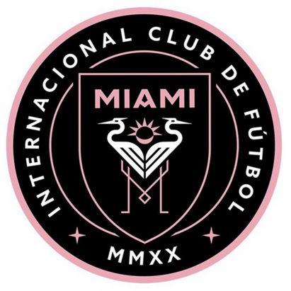 Escudo de fútbol que se cree que es para el club de Miami de David Beckham