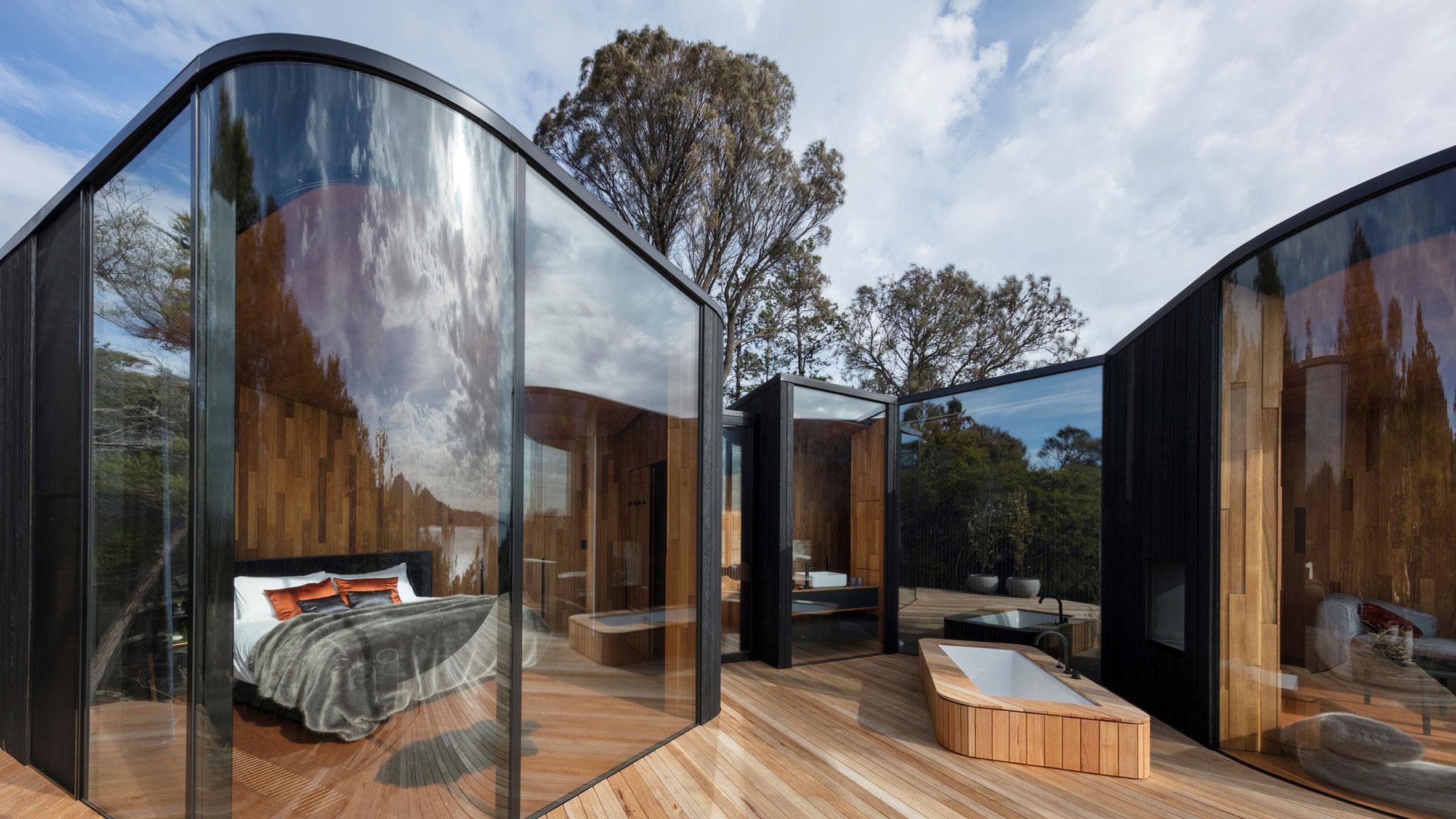 Freycinet Lodge Coastal Pavilions, Tasmania, Australia, by Liminal Architecture
