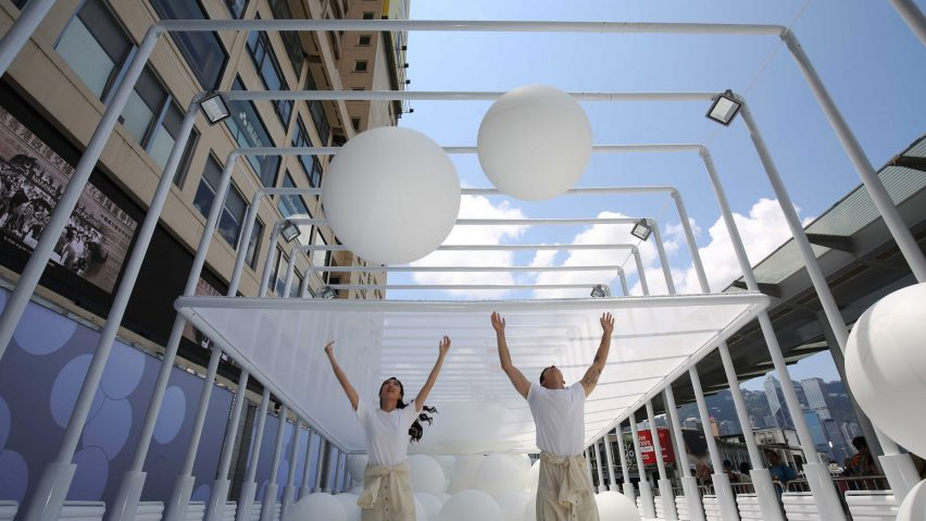 Snarkitecture fills Hong Kong waterfront with giant bouncy balls