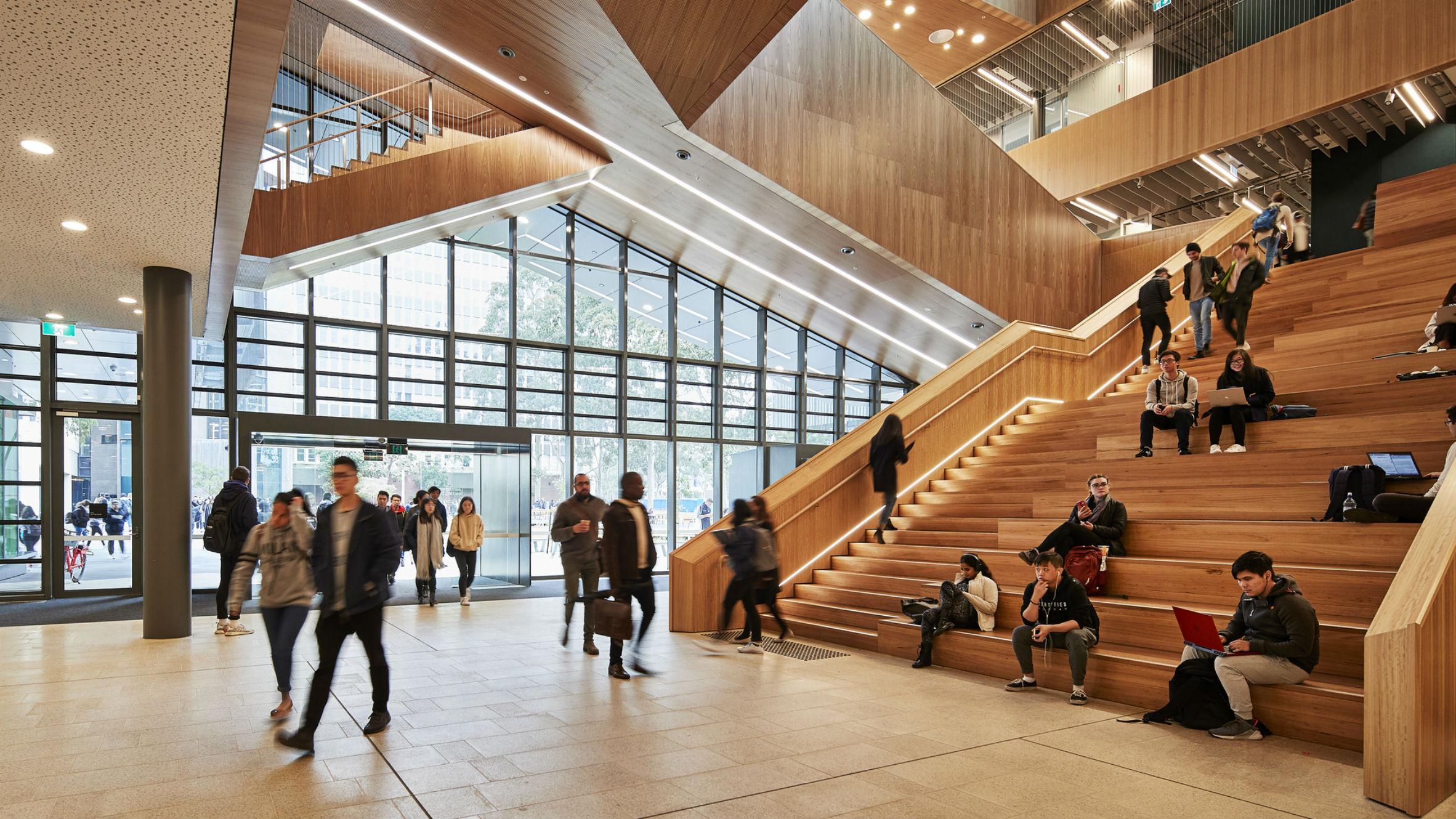 Learning and Teaching Building Monash Univesity, Clayton, Australia, by John Wardle Architects