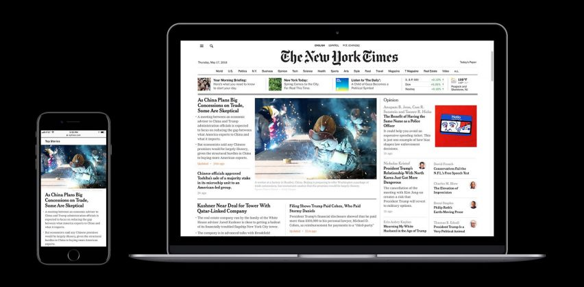 New York Times redesigns website to catch up with mobile offering