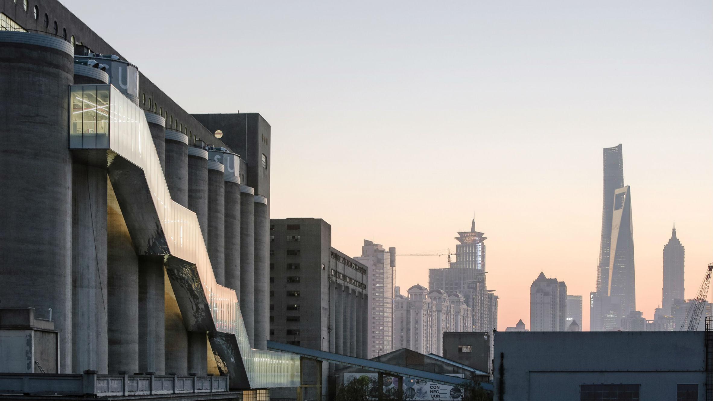 Renovation of 80,000-ton silos on Minsheng Wharf, Shanghai, China, by Atelier Deshaus