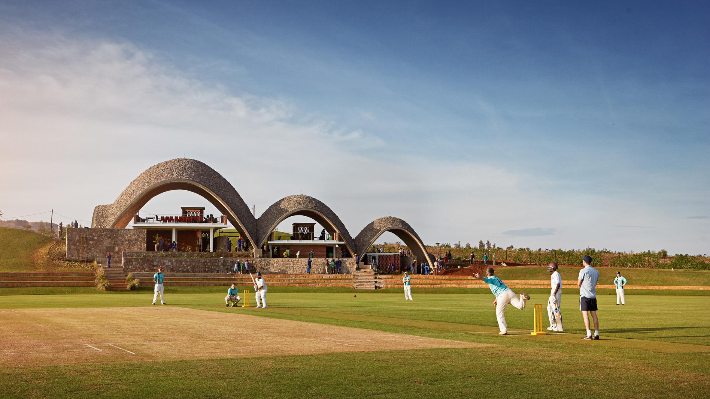 Rwanda Cricket Stadium, Gahanga, Kigali, Rwanda, by Light Earth Designs