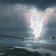 Brooks + Scarpa's inflatable pavilion concept captures energy from lightning storms