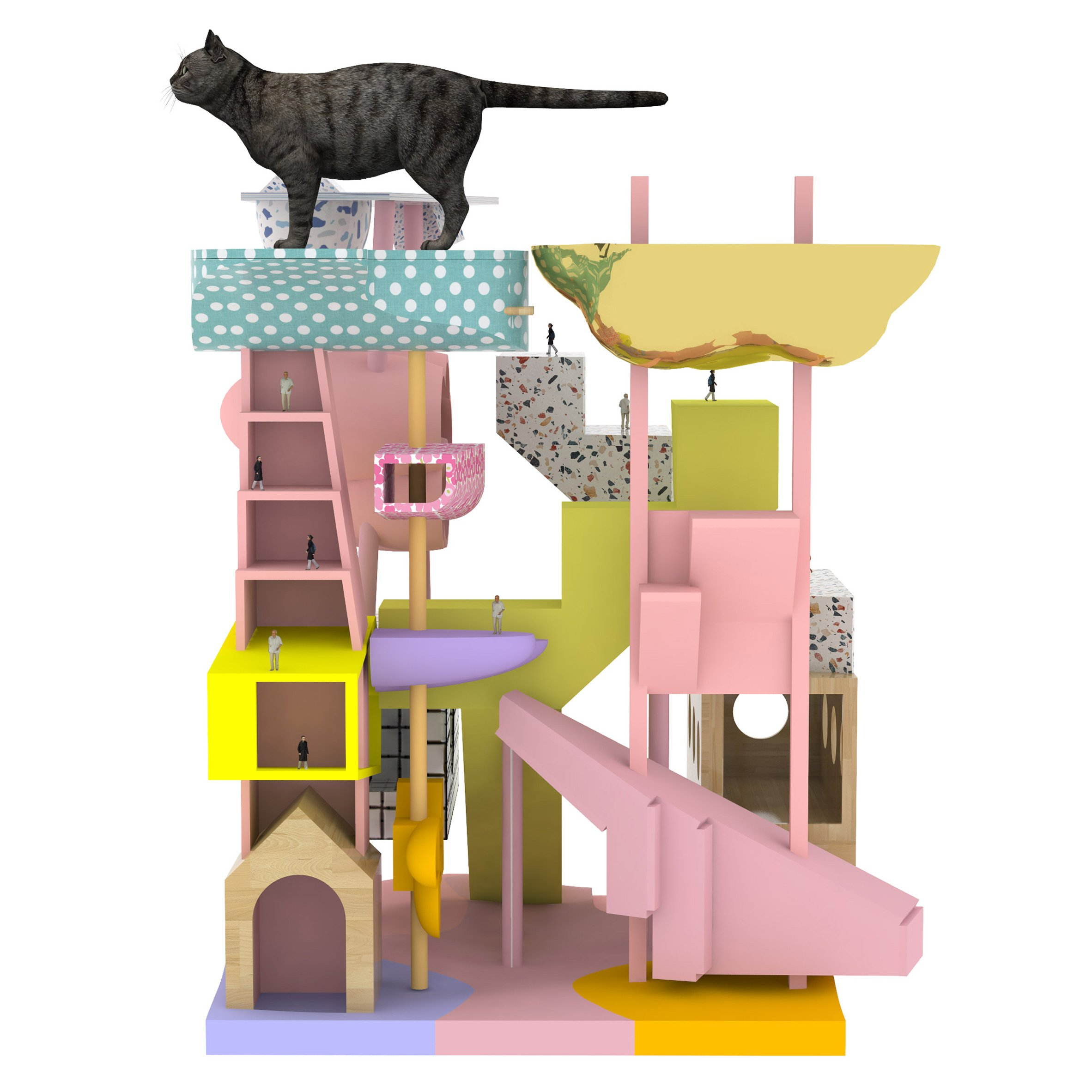 Bureau Spectacular creates high-rise architecture model that doubles as a cat tower