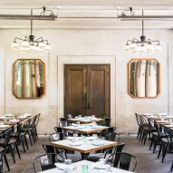Gachot Studios renovates Bocce restaurant at New York's Union Square