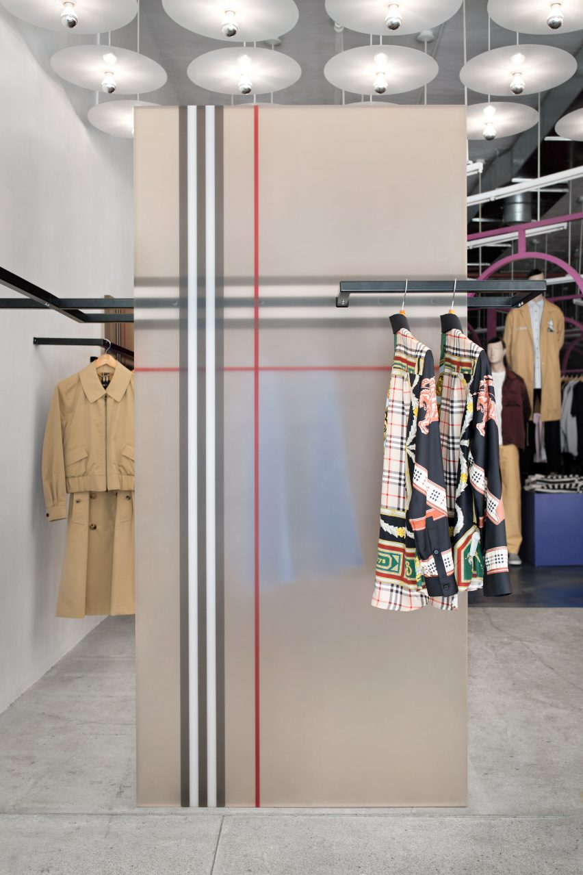 Burberry x OC installation by Sabine Marcelis