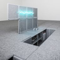 Leopold Banchini sinks rooms and objects beneath office floors in Centre Pompidou installation