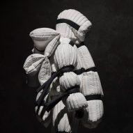 Craig Green's voluminous jackets for Moncler resemble flotation devices