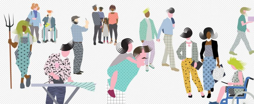 "Graphic figures for digital renders embrace ""post-digital drawing age"""