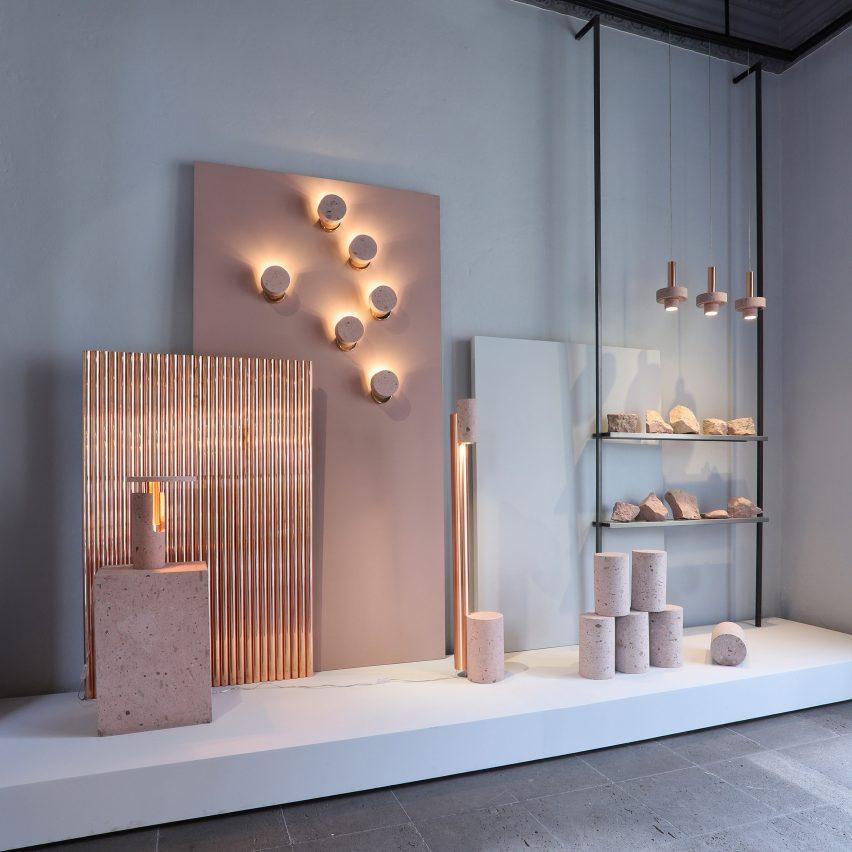 "Davidpompa creates ""vivid tour"" of materials at its Mexico City showroom"