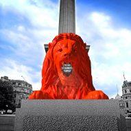 Es Devlin to install poetry-spouting lion in London's Trafalgar Square