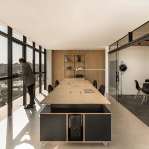 Office Interiors Design With Solo Arquitetos Softens Brazilian Office Space With Light Wood Details 12 Of The Best Minimalist Interiors Where Thereu0027s To Think