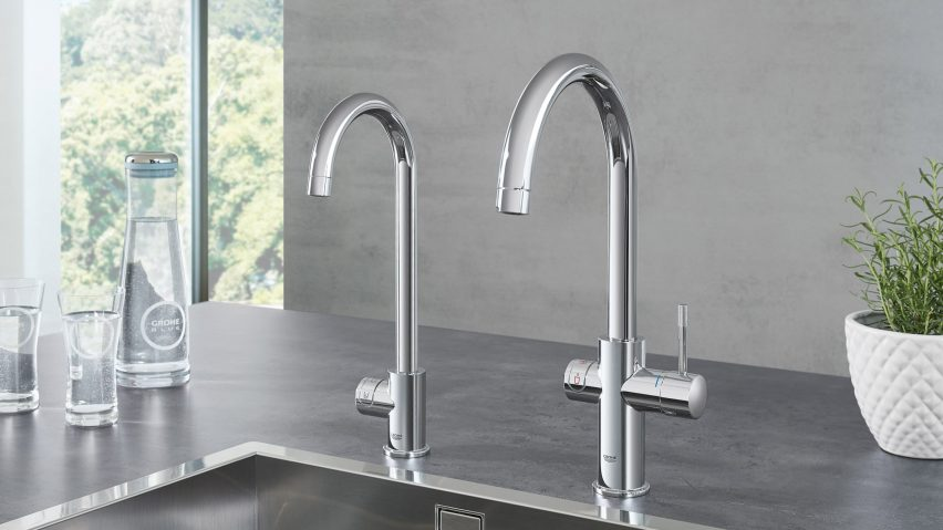 Sensationelle Grohe's Blue Home and Red taps provide instant boiling or VJ44