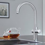 Grohe's Blue Home and Red taps provide instant boiling or sparkling water