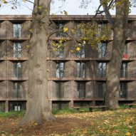 Henley Halebrown creates concrete-and-brick student halls for garden-like site