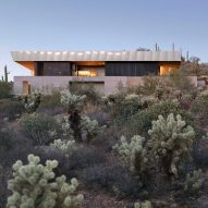 Wendell Burnette places Hidden Valley Desert House among forest of cacti