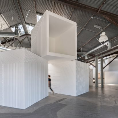 Massive White Boxes Turn LA Warehouse Into Offices By FreelandBuck