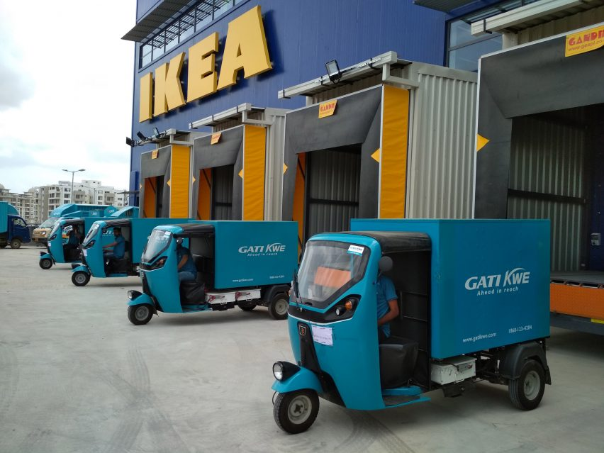IKEA electric rickshaws