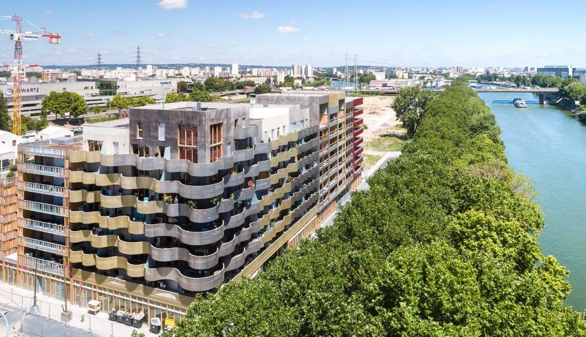 Ile Saint Denis Housing Project by Peripheriques Architectes