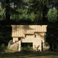 Chan Brisco Architects builds wooden chicken coop that looks like a log cabin in rural Finland
