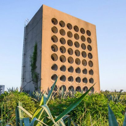 Former anti-communist propaganda speakers reimagined into brutalist sound installation