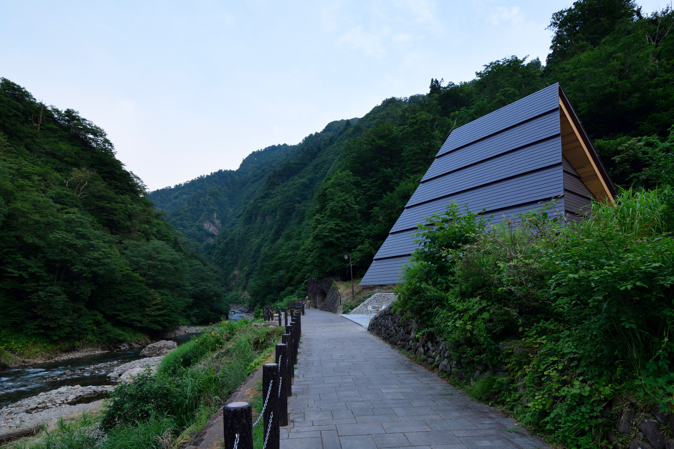 MAD transforms Japanese mountain tunnel by adding mirrors, a spa and ...