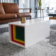 Lego Table by Yusong Zhang comprises 10,480 blocks