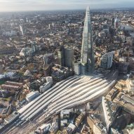Ribbon-like platform roofs stretch over Grimshaw's redesigned London Bridge station