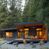 Prentiss Balance Wickline selects modest materials for Lot 6 Cabin in Washington