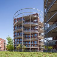 Mecanoo's cylindrical apartments designed to recall gas holders