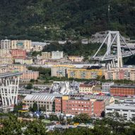 Ponte Morandi bridge collapses in Genoa during storm