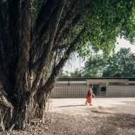 Buddhanimit Temple extension contains dormitory for novice monks