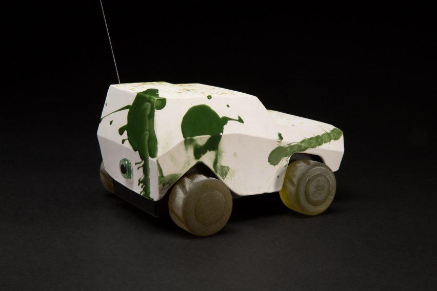 """Oz Biri's ceramic military vehicles symbolise the """"fragility of life"""""""