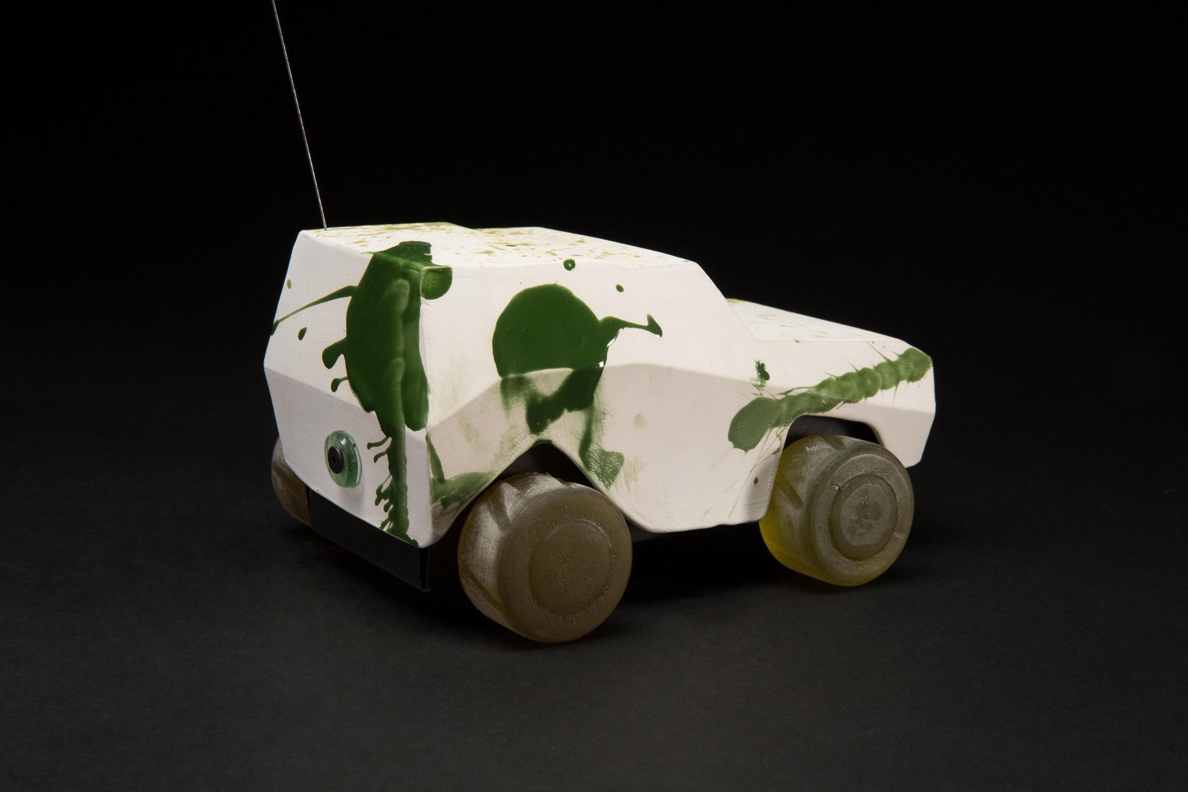 Oz Biri's ceramic military vehicles symbolise the