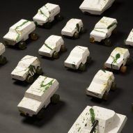 "Oz Biri's ceramic military vehicles symbolise ""fragility of life"""