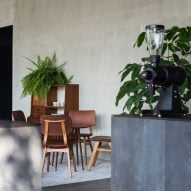 HOP scatters mid-century furniture throughout Public Space coffee bar